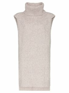 See By Chloé turtleneck sleeveless knit jumper - Grey