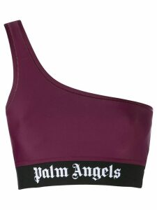 Palm Angels single shoulder strap cropped top - Red