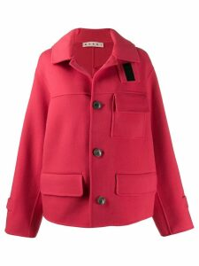 Marni double-face short coat - Red