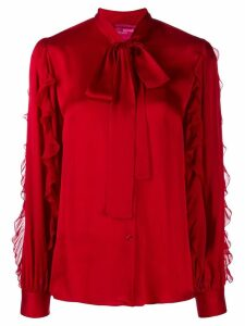 Blumarine pussy bow blouse - Red