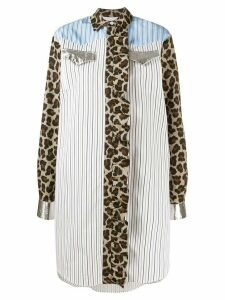 MSGM oversized striped shirt - 01BIANCO