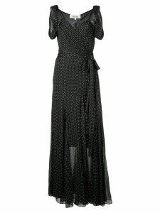 Diane von Furstenberg Belinda crinkled wrap dress - Black