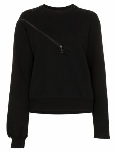 Unravel tonal zip-detail sweatshirt - Black
