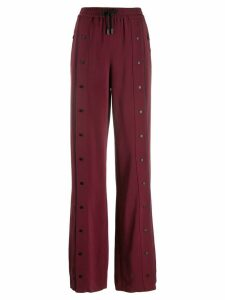 Karl Lagerfeld logo snap trousers - Red