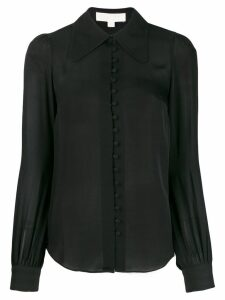 Michael Michael Kors classic-collar silk shirt - Black