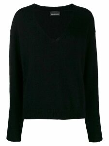Ermanno Ermanno oversized v-neck jumper - Black