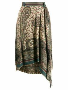 Etro paisley print skirt - Green