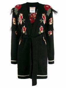 Twin-Set floral intarsia cardigan - Black