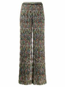 Missoni fine knit trousers - Black