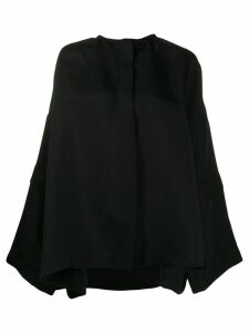 Jil Sander oversized long-sleeved blouse - Black