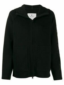Woolrich logo zip-up hoodie - Black