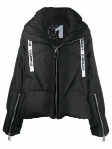 Khrisjoy feather down hooded jacket - Black