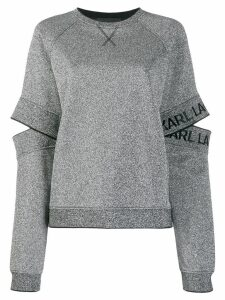 Karl Lagerfeld cut-out sleeve sweatshirt - Silver
