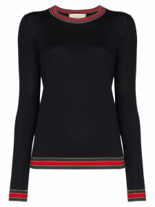 Gucci Web trim jumper - Blue