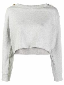 Alexandre Vauthier cropped pullover - Steel
