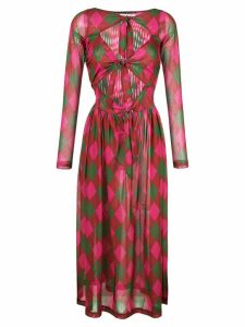 Molly Goddard rhombus print midi dress - Multicolour