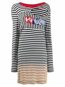 Diesel oversized striped jumper - White