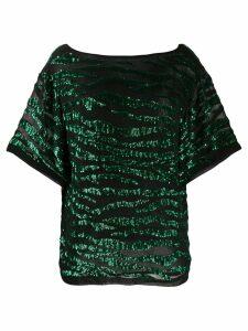 P.A.R.O.S.H. Gebrad blouse - Green