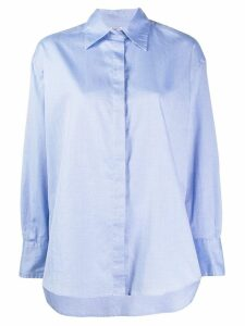 Barena oversized long-sleeved shirt - Blue