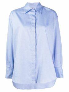 Barena oversized long-sleeved shirt - Blue