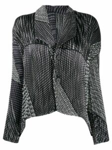 Issey Miyake pleated long-sleeve blouse - Black