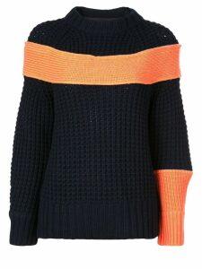 Sacai contrasting panel jumper - Blue