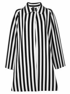 Norma Kamali reversible striped coat - White