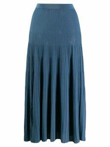 MRZ Gonna plissé midi skirt - Blue