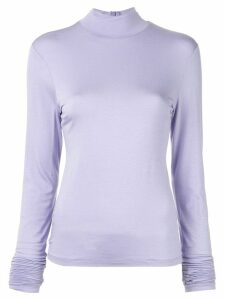 G.V.G.V. high-neck jumper - PURPLE