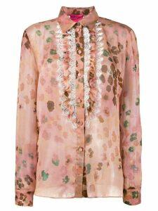 Blumarine leopard print shirt - Pink