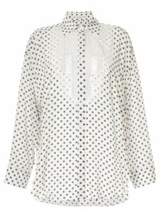 Ermanno Scervino polka dots blouse - White