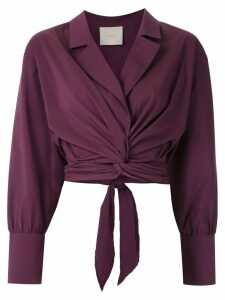 Framed Lotus wrap top - PURPLE