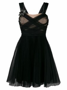 Pinko sheer ruched dress - Black
