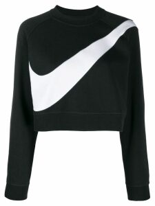 Nike swoosh fleece crewneck sweatshirt - Black