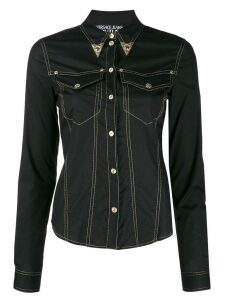 Versace Jeans Couture denim western shirt - Black