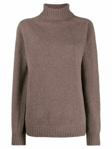Officine Generale turtle neck jumper - Brown