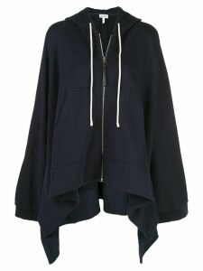 Loewe oversized zip-up hoodie - Blue