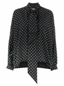 Balenciaga Fluid vareuse blouse - Black