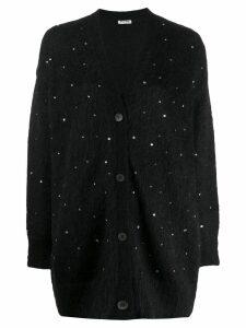 Miu Miu sequin embroidered cardigan - Black