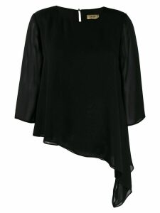 LIU JO long sleeved contrast blouse - Black