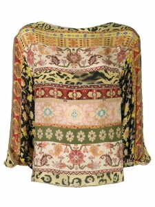 Etro printed long-sleeved blouse - Yellow