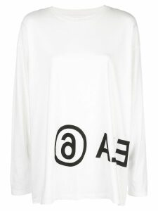 Mm6 Maison Margiela logo long-sleeved T-shirt - White