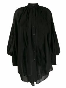 Ann Demeulemeester oversized sheer shirt - Black