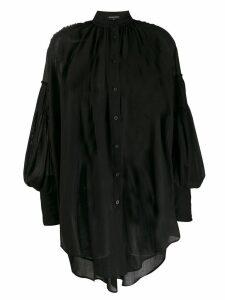 Ann Demeulemeester oversized sheer shirt - Black
