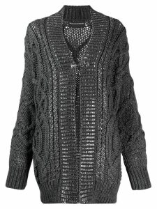 Ermanno Scervino oversized cardigan - Grey