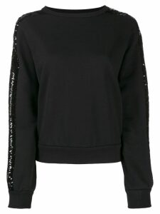 Iceberg sequin stripe sweatshirt - Black