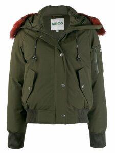 Kenzo faux fur hooded jacket - Green