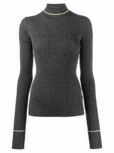 Maison Margiela ribbed roll neck sweater - Grey
