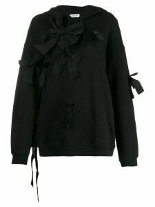 Brognano bow-tie detail hoodie - Black