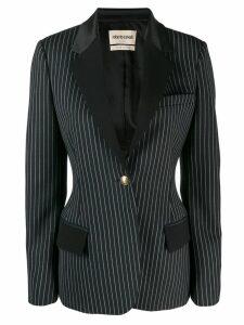 Roberto Cavalli pinstriped single button blazer - Blue